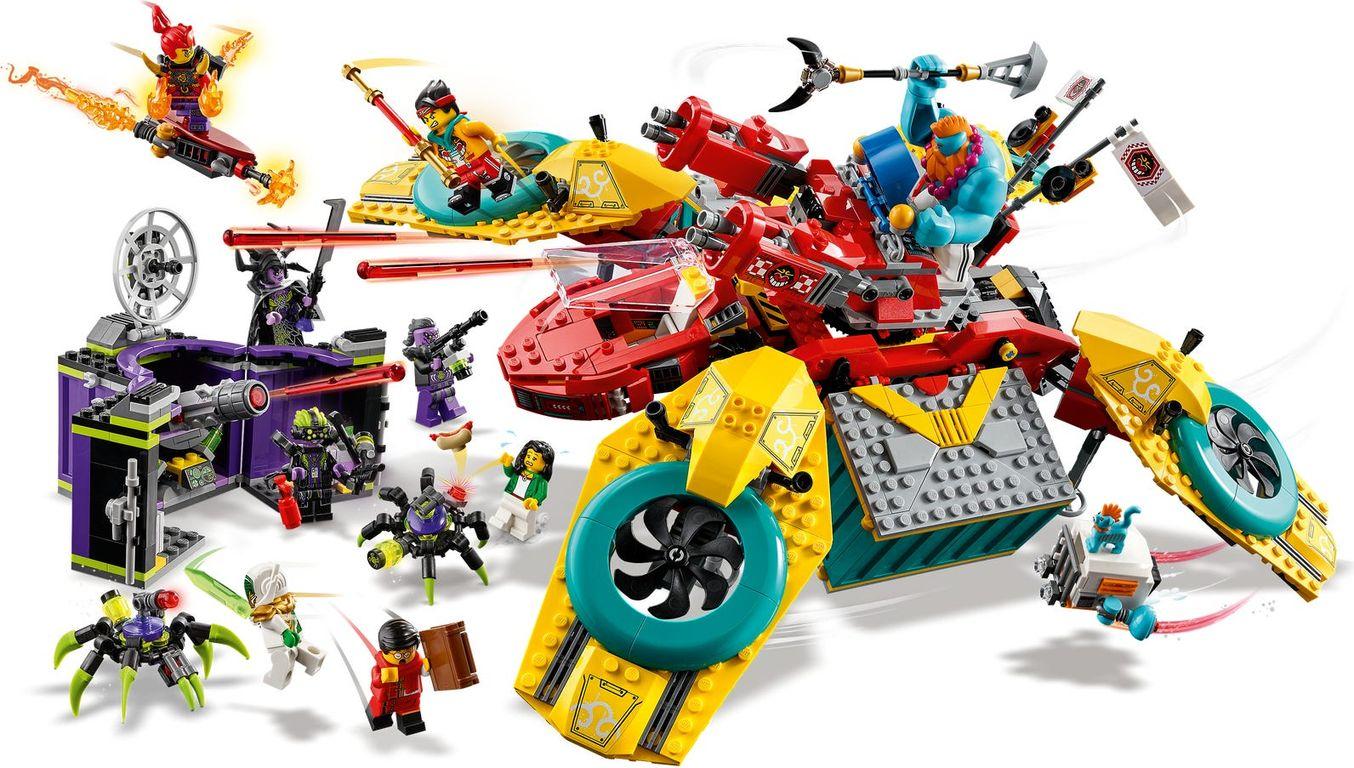 Monkie Kid's Team Dronecopter minifigures