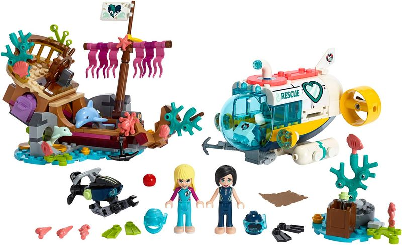 LEGO® Friends Dolphins Rescue Action components