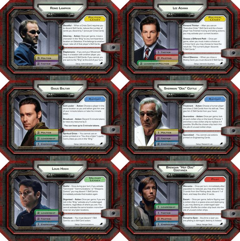 Battlestar Galactica: Daybreak Expansion cards