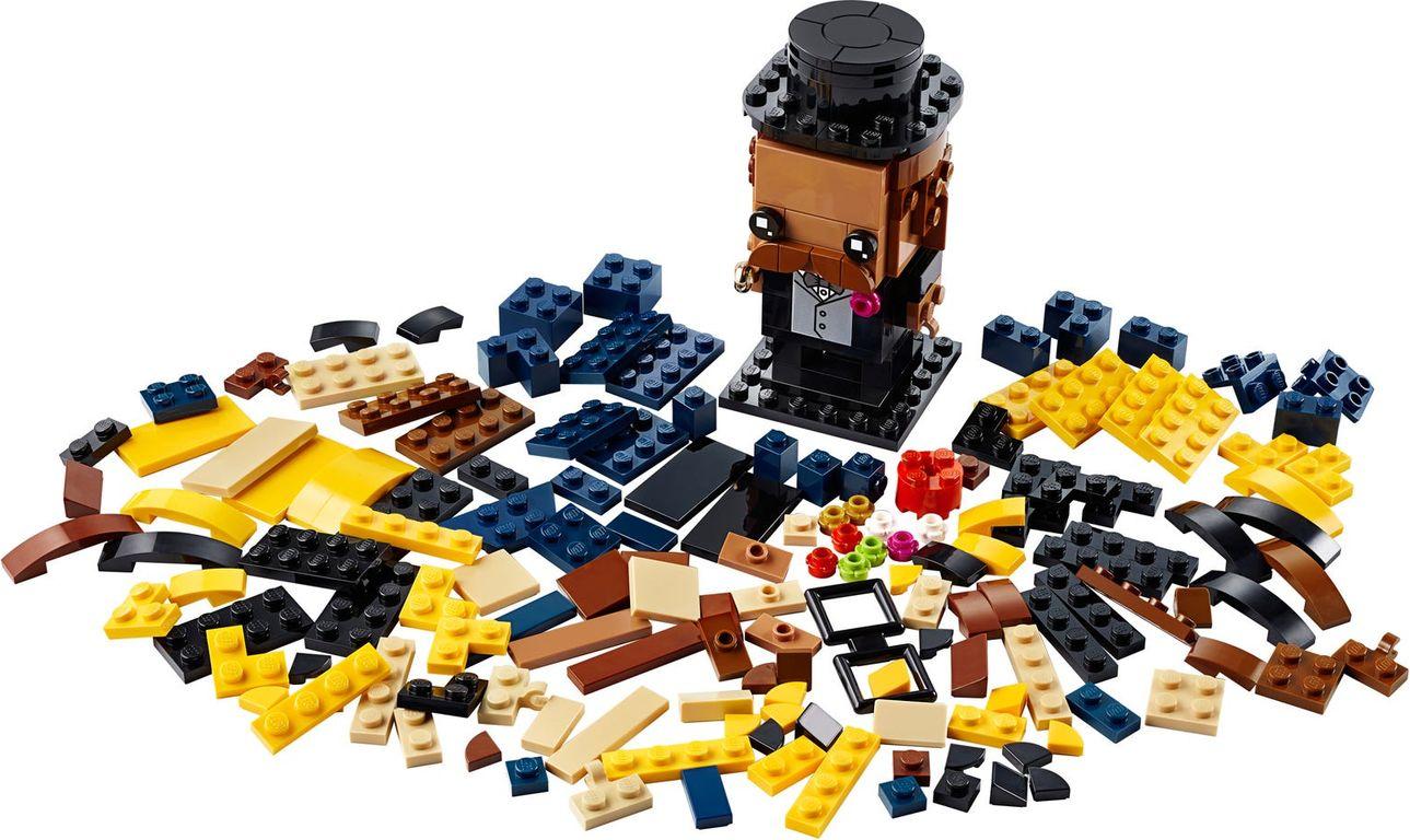 LEGO® BrickHeadz™ Wedding Groom components