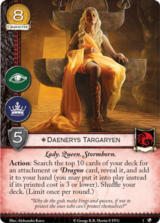 A Game of Thrones: The Card Game (Second Edition) – Dragons of the East Daenerys Targaryen