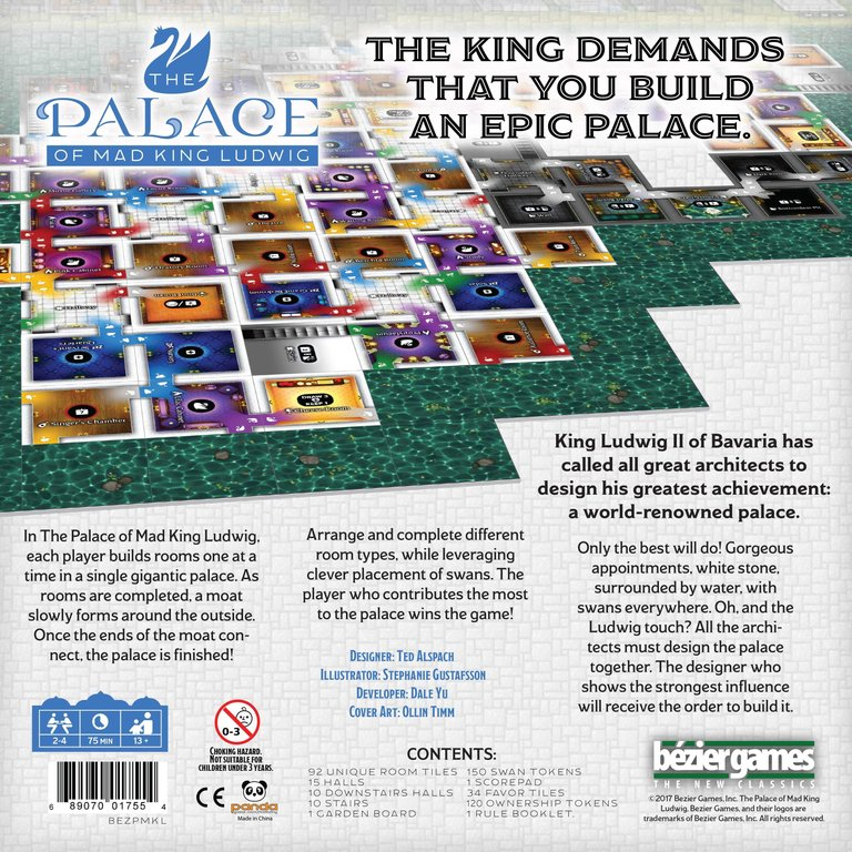 The Palace of Mad King Ludwig back of the box