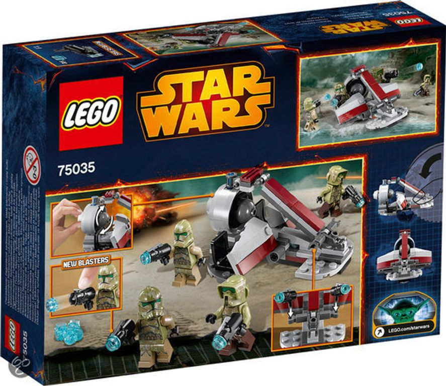 LEGO® Star Wars Kashyyyk Troopers back of the box