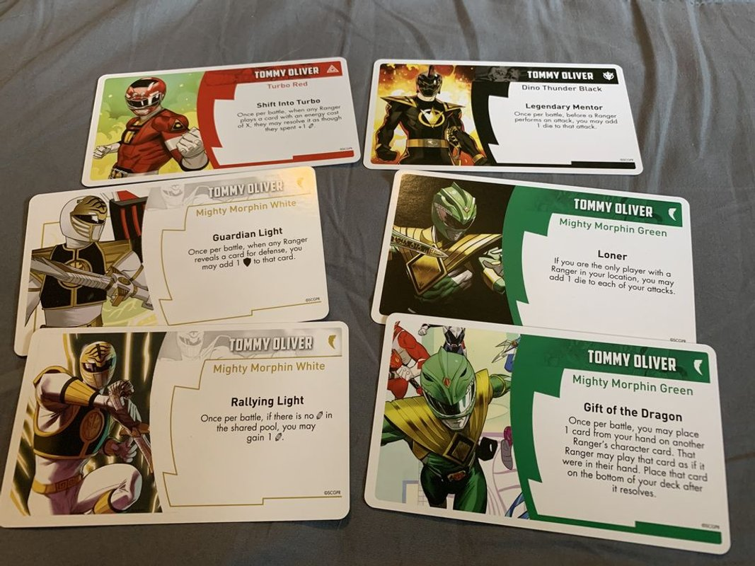 Power Rangers: Heroes of the Grid – Legendary Ranger: Tommy Oliver Pack cards