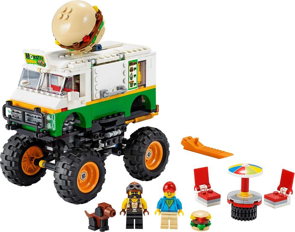 Monster Burger Truck components