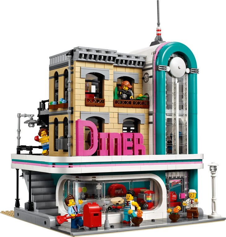 LEGO® Creator Expert Downtown Diner components