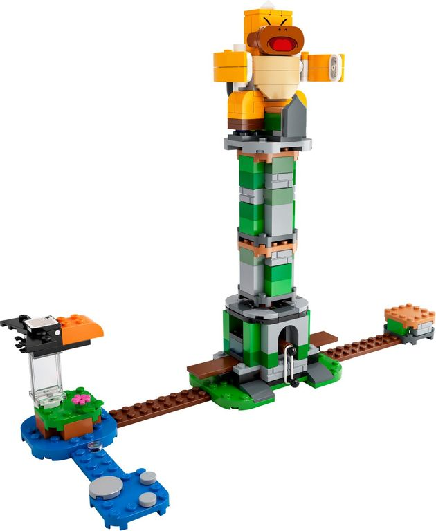 LEGO® Super Mario™ Boss Sumo Bro Topple Tower Expansion Set components
