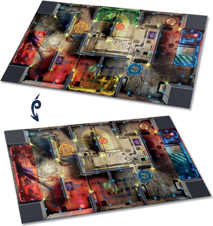 Starcadia Quest: Showdown game board