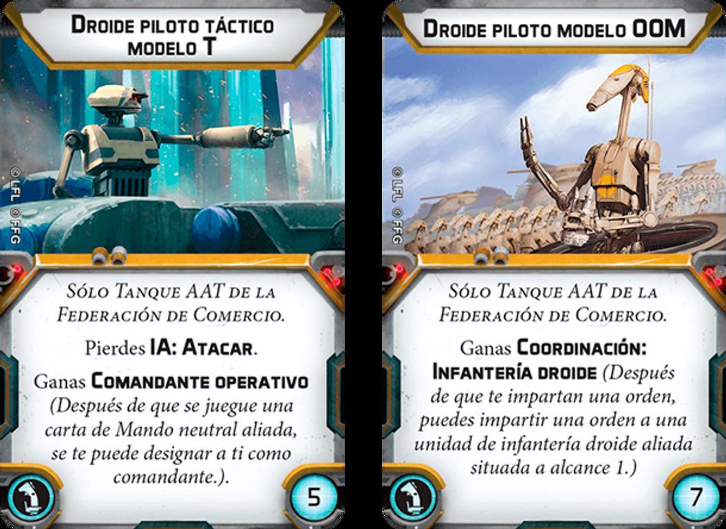 Star Wars: Legion - AAT Trade Federation Battle Tank Unit Expansion cards
