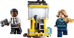 LEGO® Marvel Captain Marvel and Nick Fury (Polybag) components