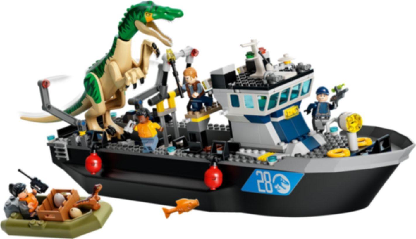 LEGO® Jurassic World Baryonyx Dinosaur Boat Escape gameplay