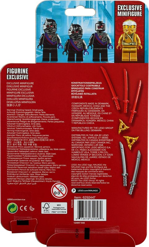 Golden Zane Minifigure Accessory Set back of the box