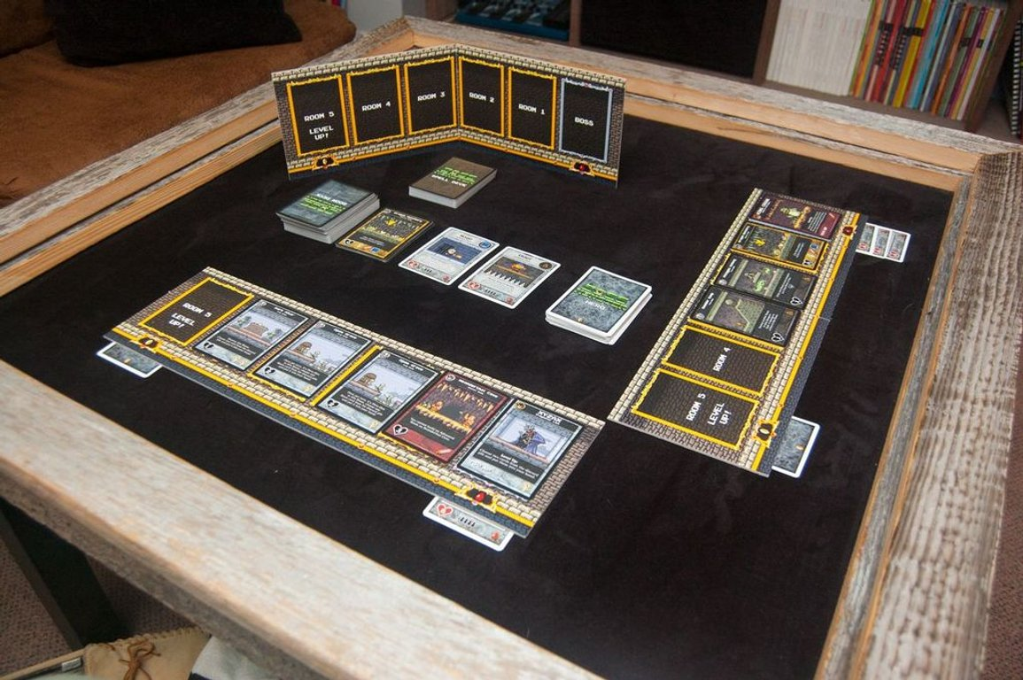 Boss Monster: The Dungeon Building Card Game components