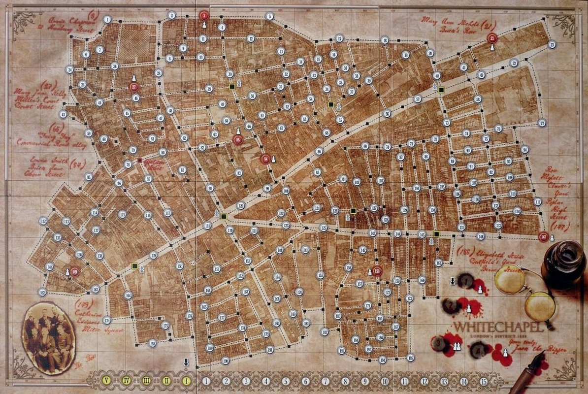 Letters from whitechapel game board