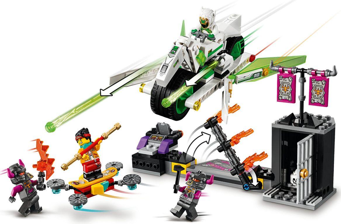 LEGO® Monkie Kid White Dragon Horse Bike gameplay