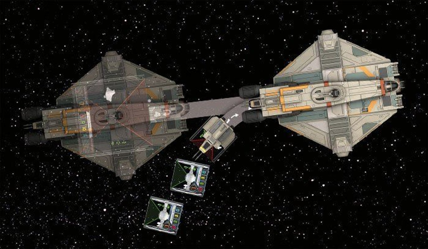 Star Wars: X-Wing Miniatures Game - Ghost Expansion Pack components