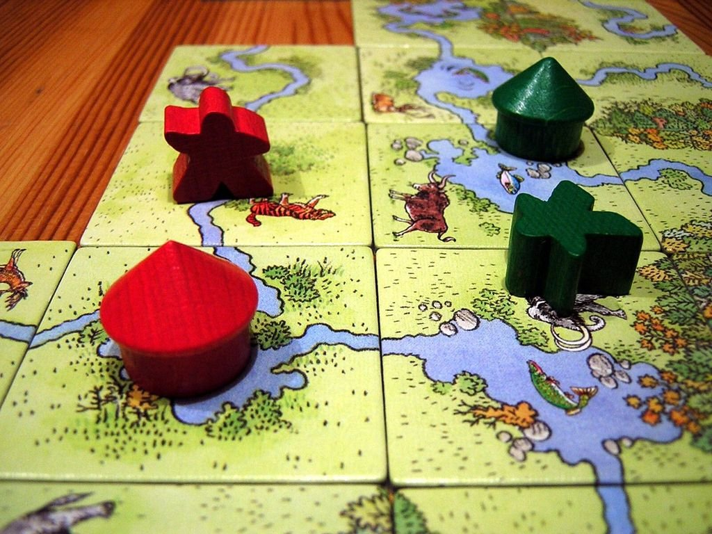 Carcassonne: Hunters and Gatherers components