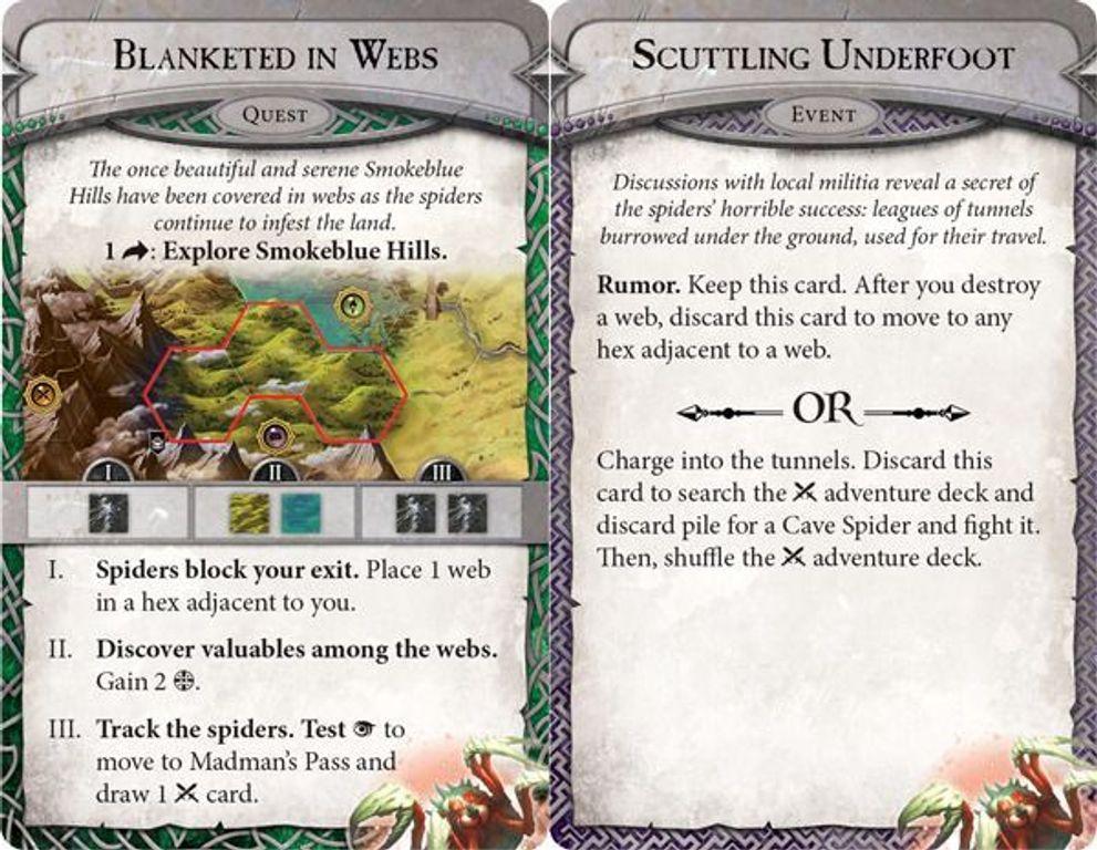 Runebound (Third Edition): Caught in a Web - Scenario Pack kaarten