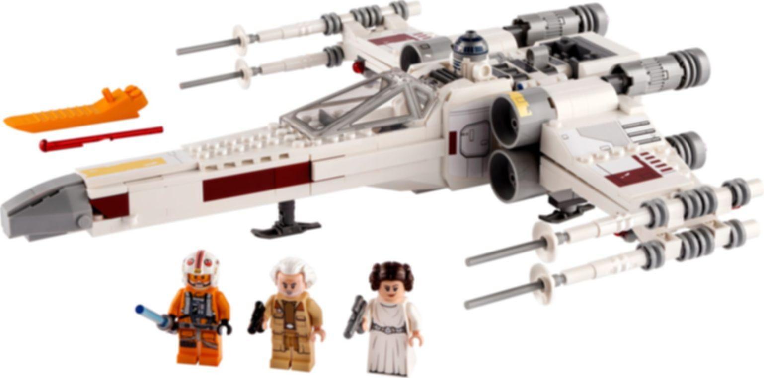 LEGO® Star Wars Luke Skywalker's X-Wing Fighter™ components