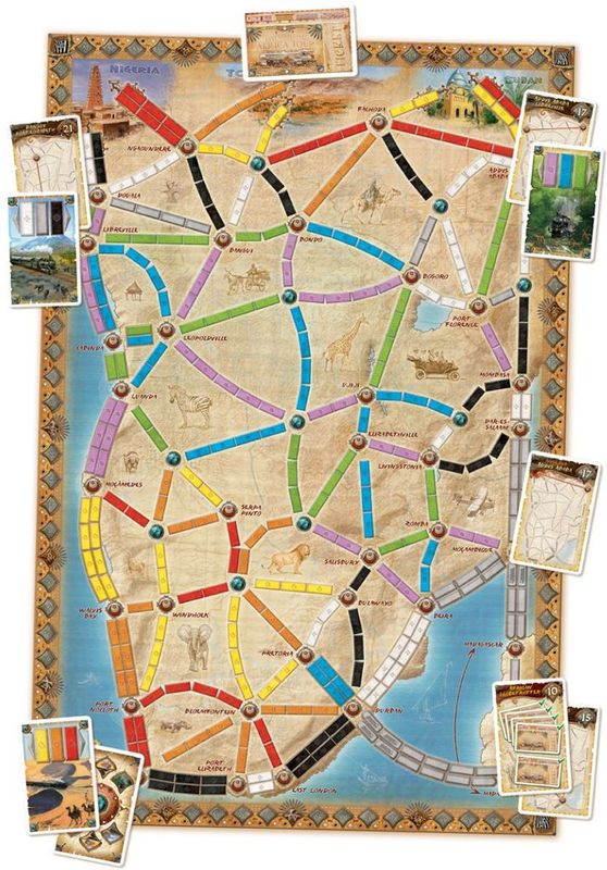 Ticket to Ride Map Collection: Volume 3 - The Heart of Africa plateau de jeu