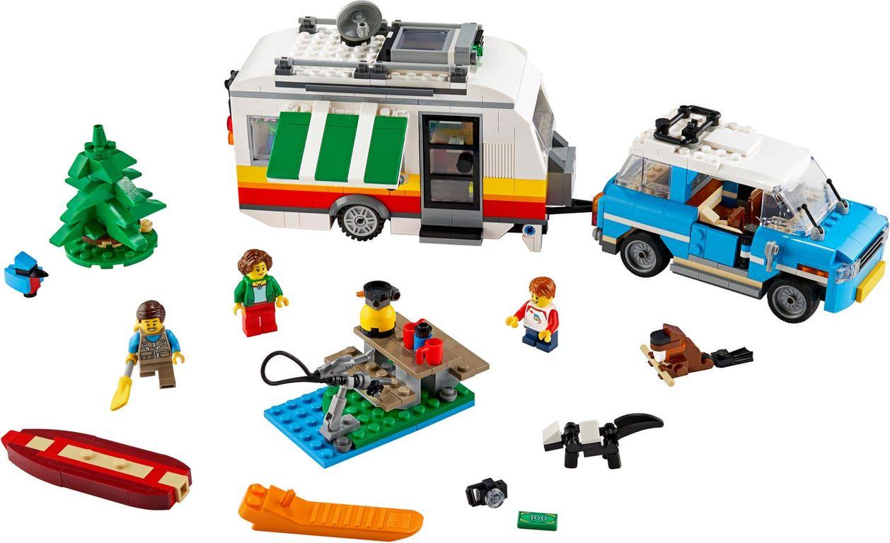 Caravan Family Holiday components