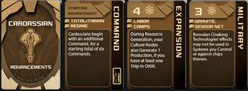 Star Trek: Ascendancy - Cardassian Union cards