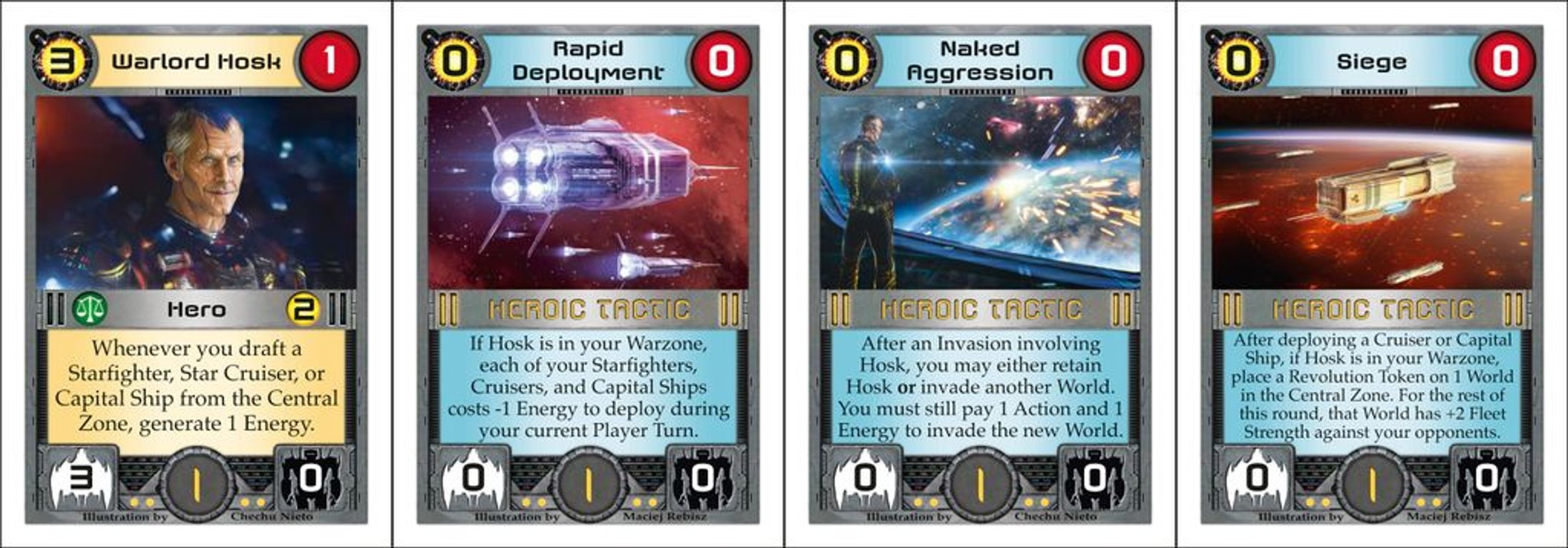 Core Worlds: Revolution cards