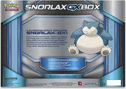 Pokémon: Snorlax-GX Box back of the box