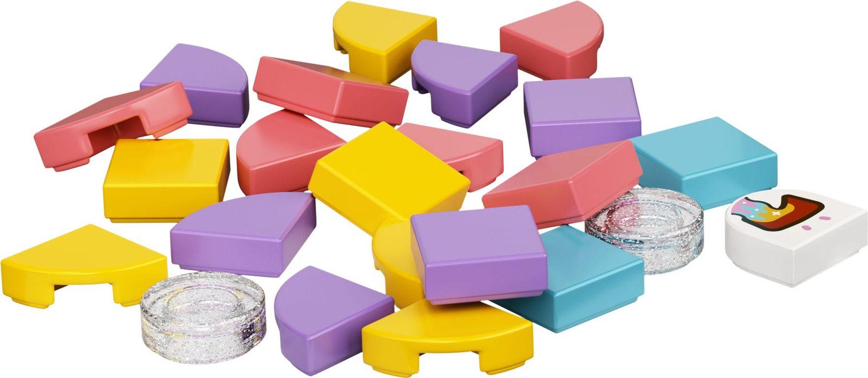 LEGO® DOTS Bag Tag Unicorn components