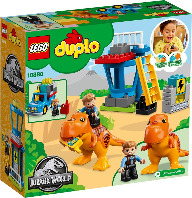 LEGO® DUPLO® T. rex Tower back of the box