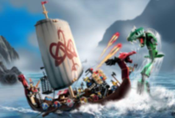 LEGO® Vikings Ship and Snake gameplay