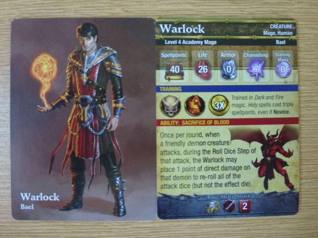 Mage Wars: Academy - Warlock Expansion card
