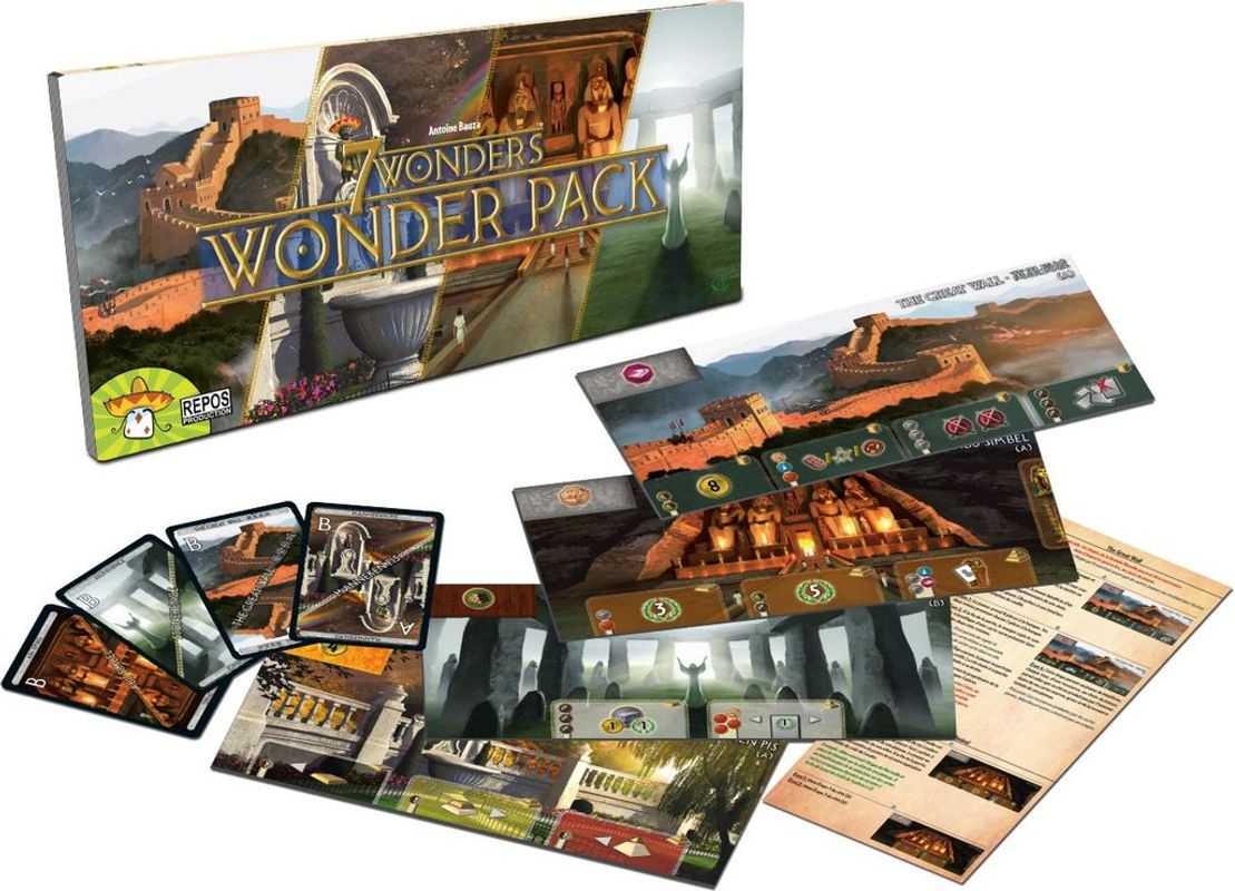 7 Wonders: Wonder Pack components