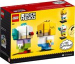 LEGO® BrickHeadz™ Homer Simpson & Krusty the Clown back of the box
