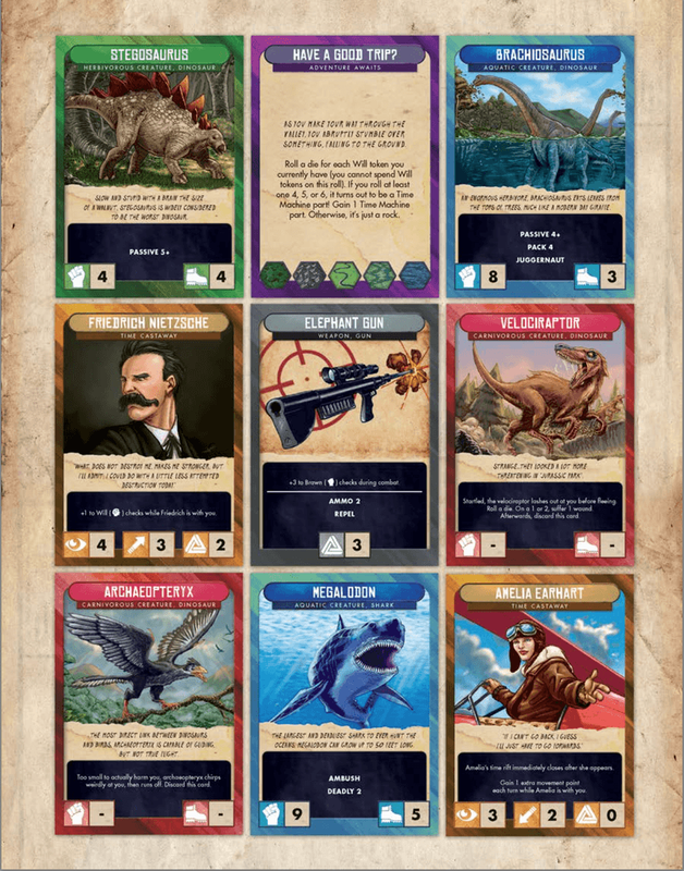 Escape from 100 Million B.C. cards