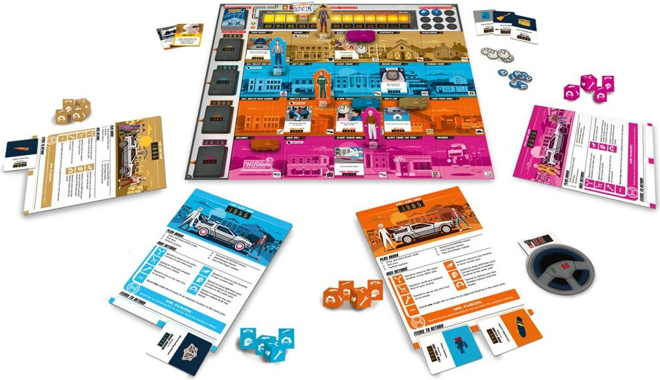 Back to the Future: Dice Through Time components