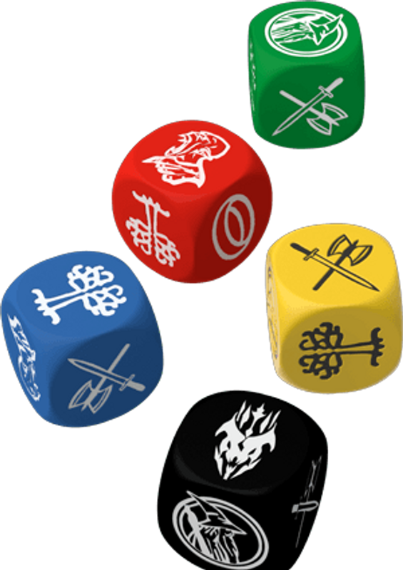 The Lord of the Rings: Journey to Mordor dice