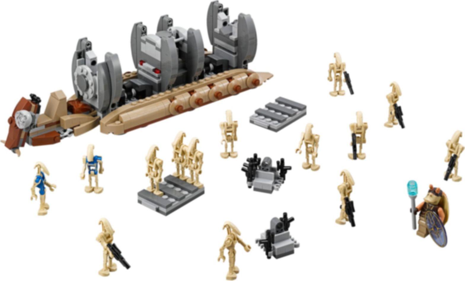 LEGO® Star Wars Battle Droid™ Troop Carrier components