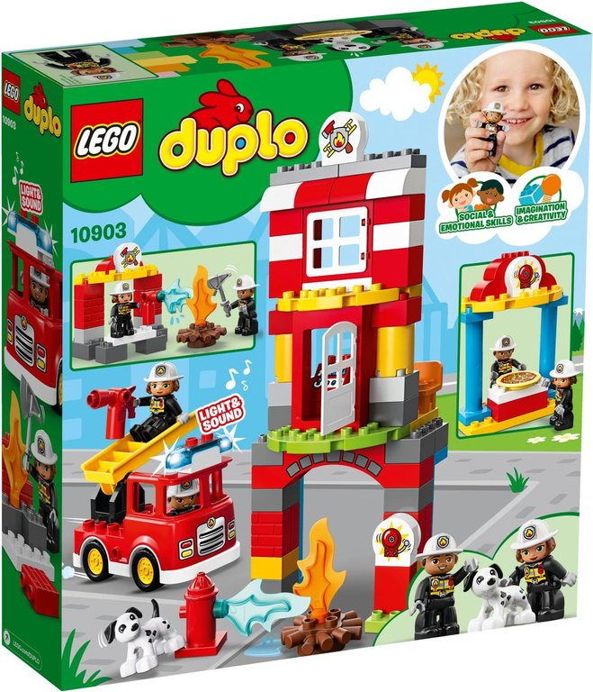 LEGO® DUPLO® Fire Station back of the box