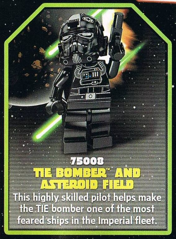 LEGO® Star Wars TIE Bomber & Asteroid Field back of the box