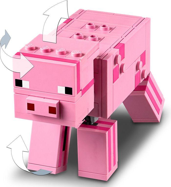 LEGO® Minecraft Bigfig Pig with Zombie baby animals