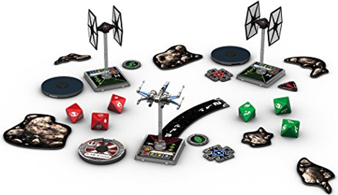Star Wars: X-Wing Miniatures Game - The Force Awakens Core Set components