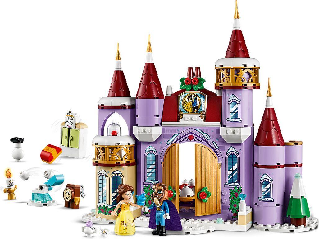 LEGO® Disney Belle's Castle Winter Celebration components