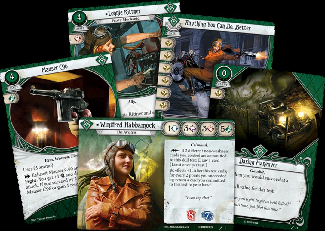 Arkham Horror LCG: Winifred Habbamock Investigator Starter Deck cards