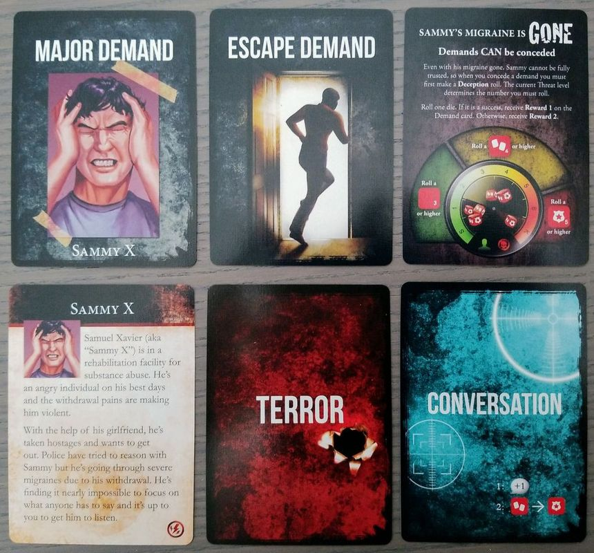 Hostage Negotiator: Abductor Pack 8 cards