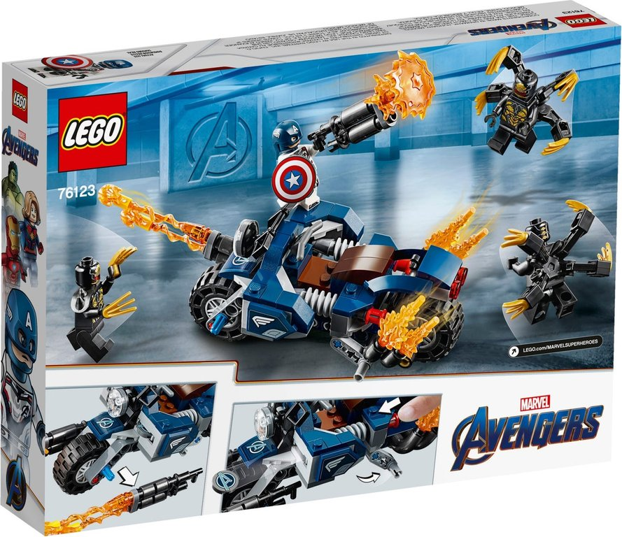 LEGO® Marvel Captain America: Outriders Attack back of the box
