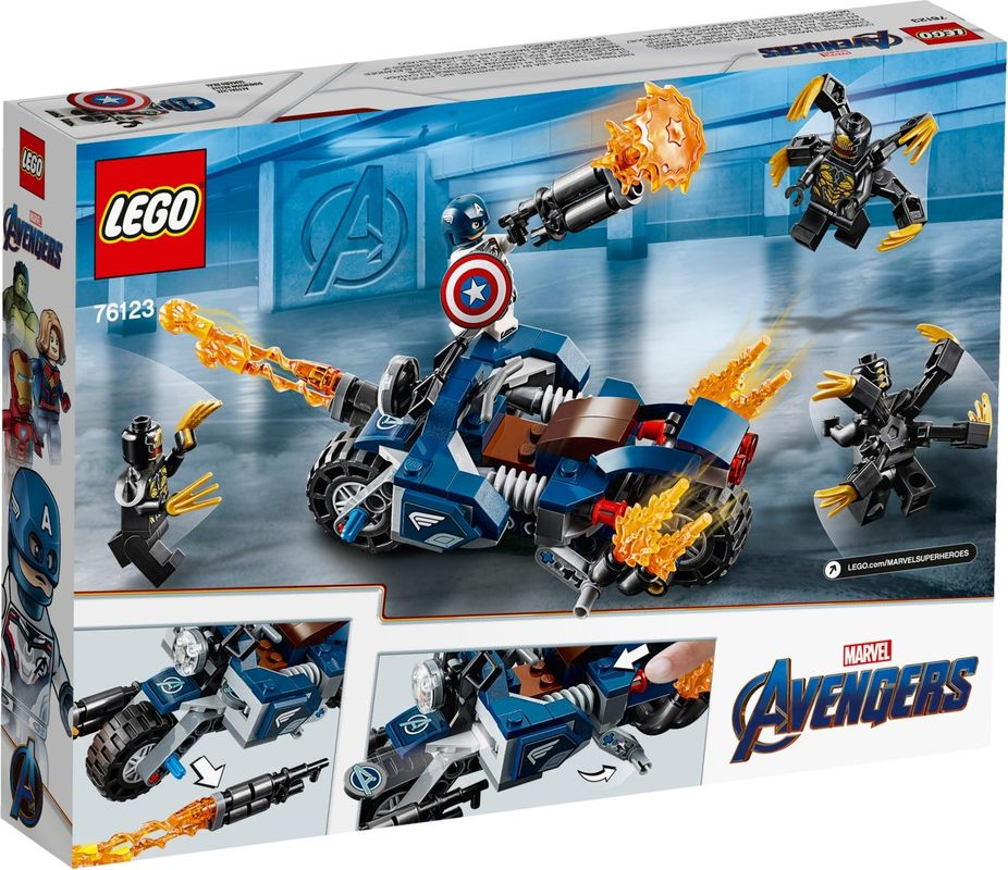 Captain America: Outriders Attack back of the box