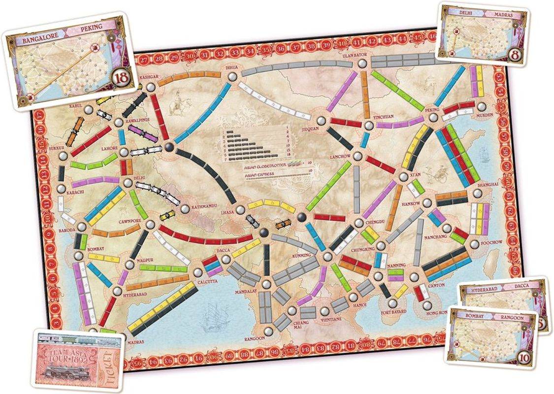 Ticket to Ride Map Collection: Volume 1 - Team Asia & Legendary Asia composants