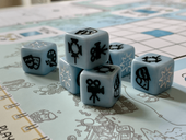 Roll Camera! The Filmmaking Board Game dice