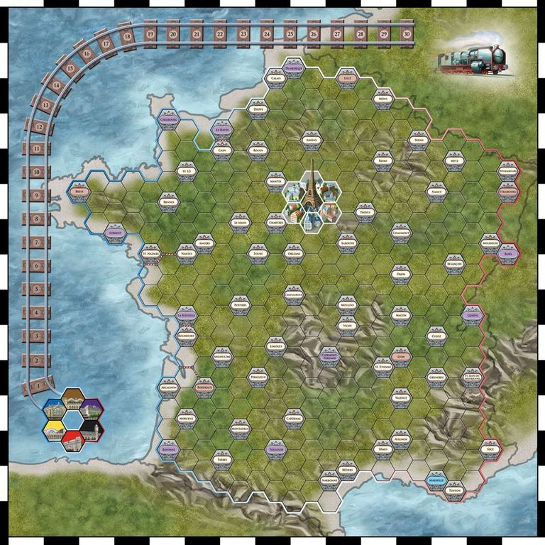 Paris Connection game board
